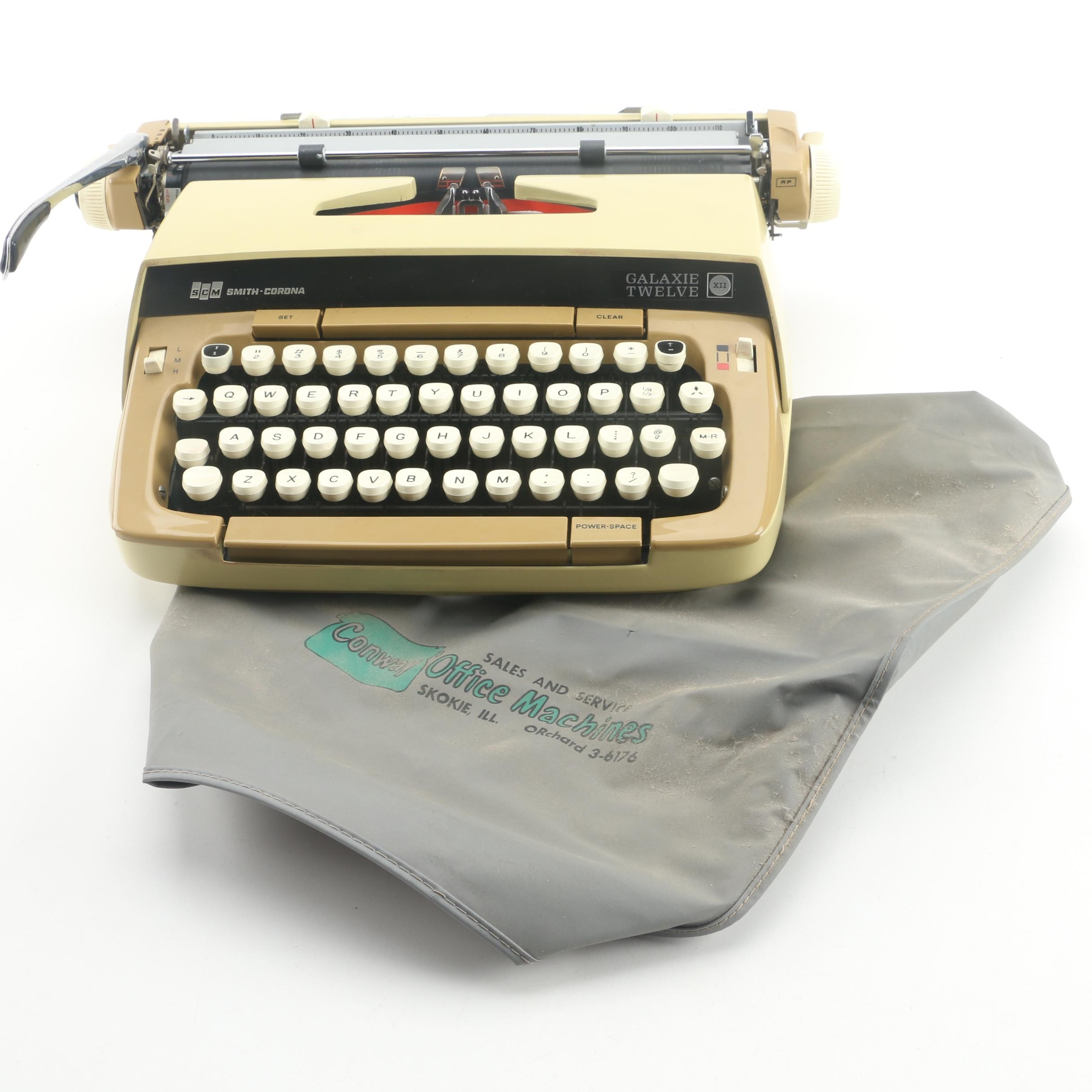 Vintage Smith-Corona Galaxie Twelve Typewriter