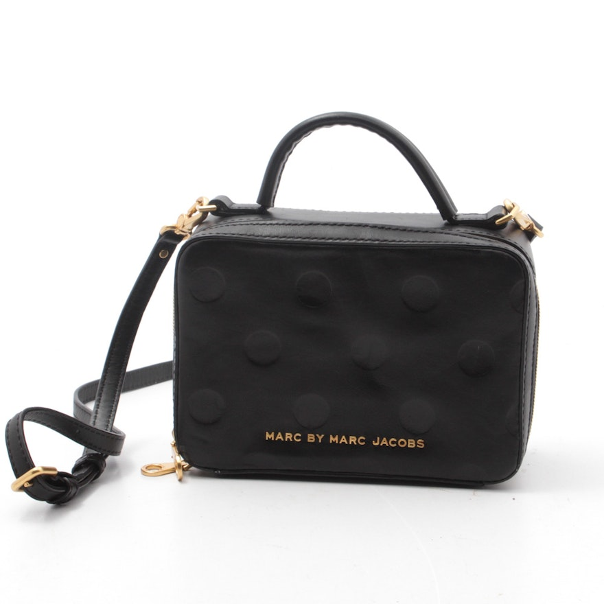 1e23bf362f54 Marc By Marc Jacobs Amaze Dot Black Leather Box Purse | EBTH