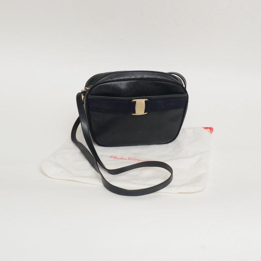 Vintage Salvatore Ferragamo Leather Crossbody Purse   EBTH 66e4f02a940eb