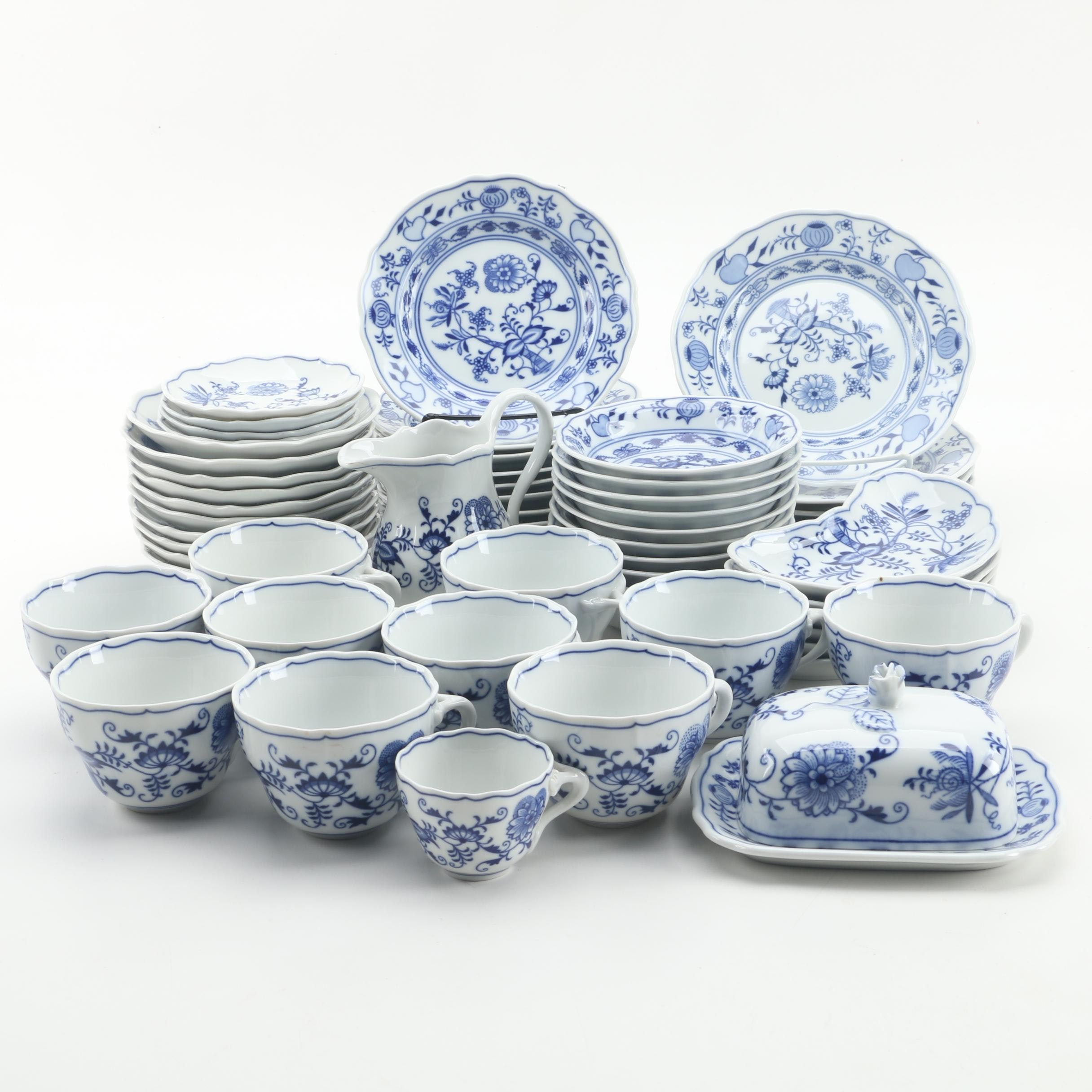 "Duchcov Porcelain ""Blue Onion"" Tableware"