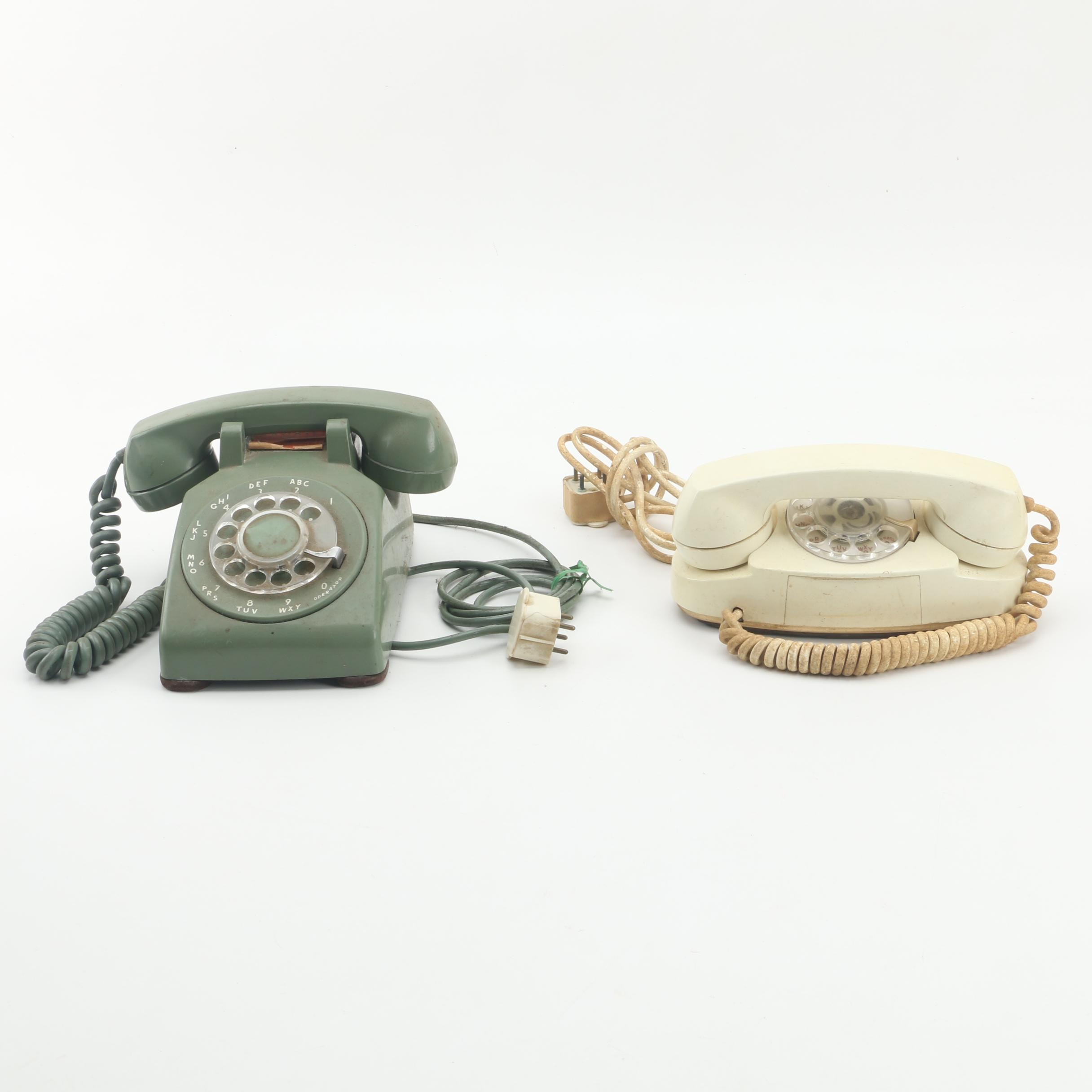 Vintage Western Electric Rotary Dial Telephones