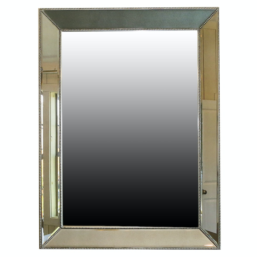 Wall Mirror With Beveled Mirrored Frame Ebth