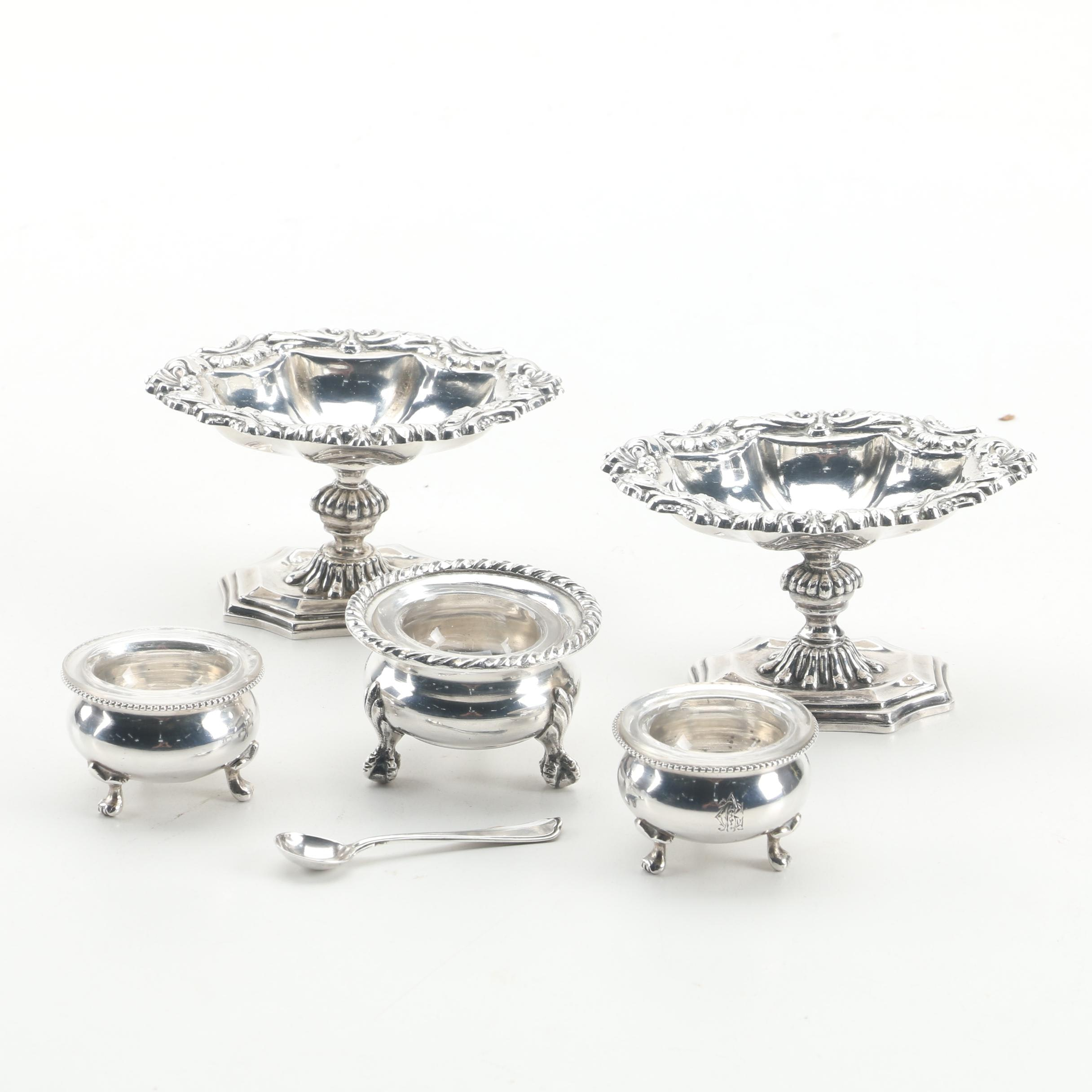 Austro-Hungarian 800 and 875 Silver Salt Cellars with Italian 800 Silver