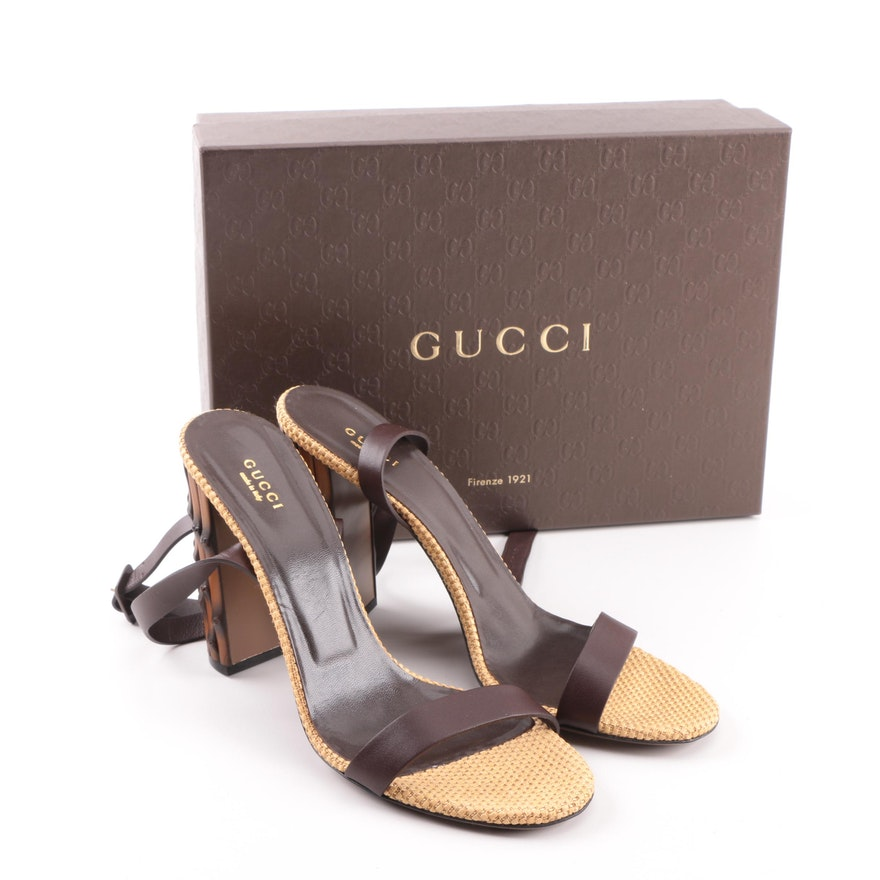 0eaa60a5be3 Women s Gucci Lifford High Heel Bamboo Sandals   EBTH