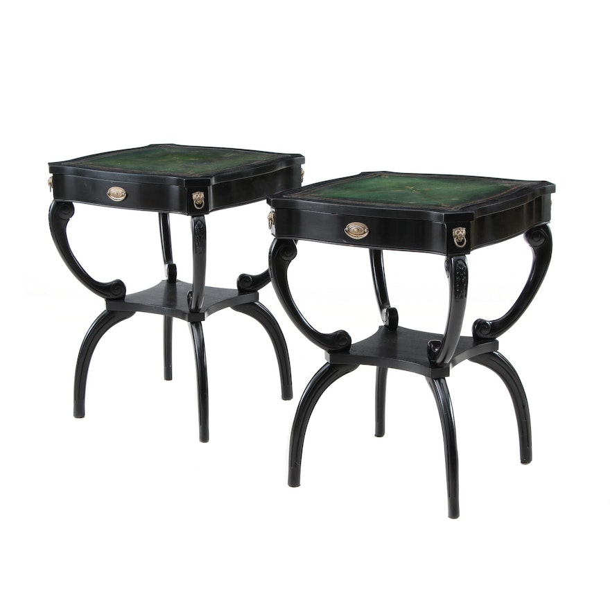 Hollywood Regency Style End Tables