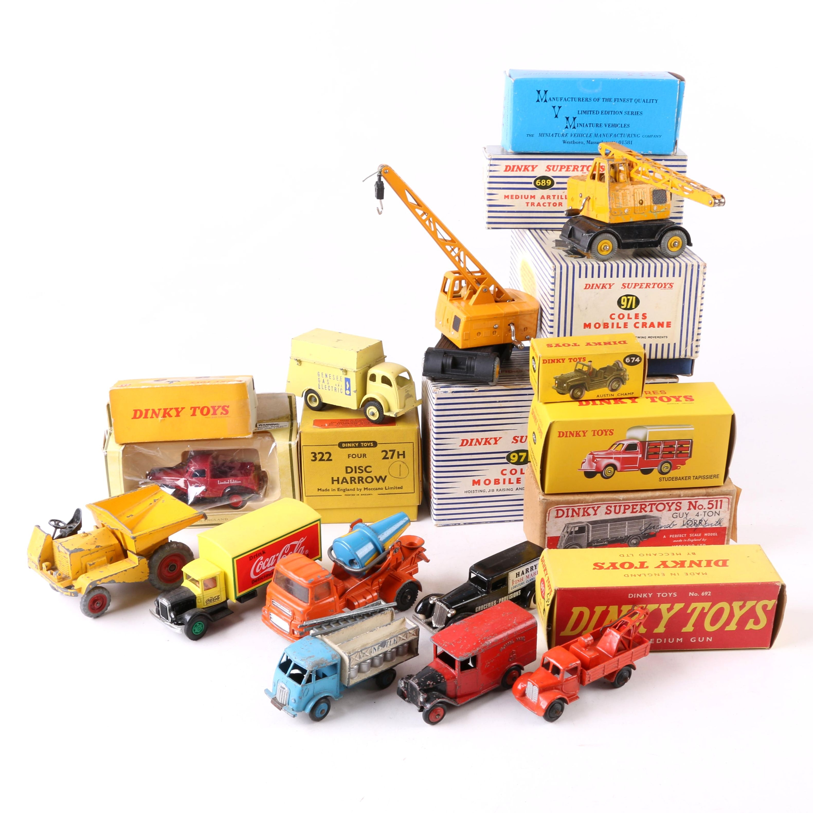 Vintage Die-Cast Vehicles including Dinky Toys