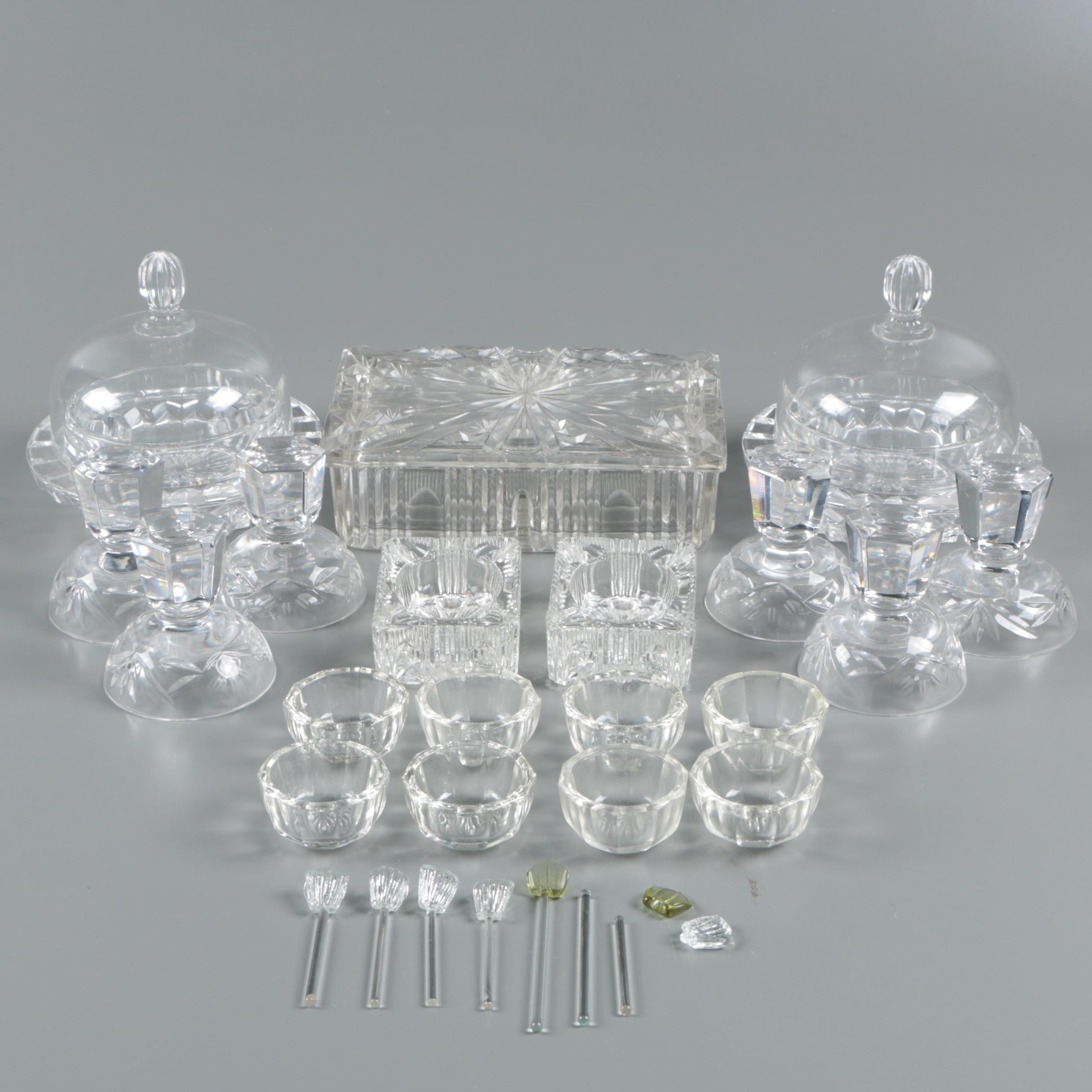 Princess Gardner Glass Salt Cellar Set with other Crystal and Glass Serveware