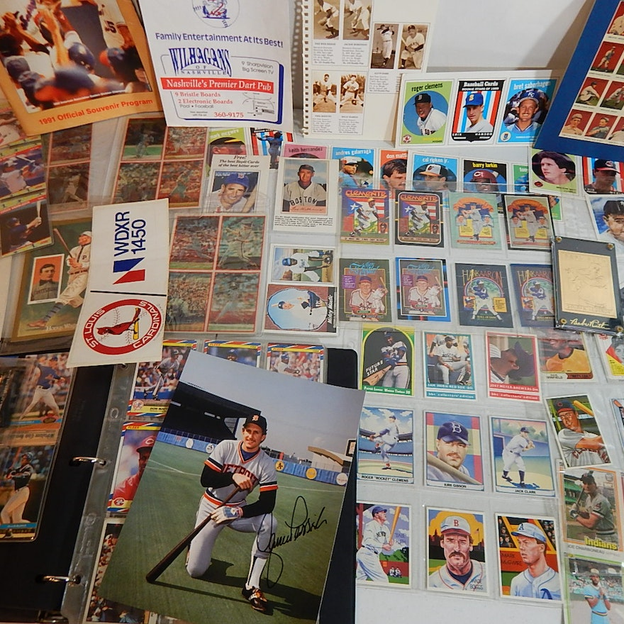 Baseball Card And Collectibles Lot From 1980s And 1990s