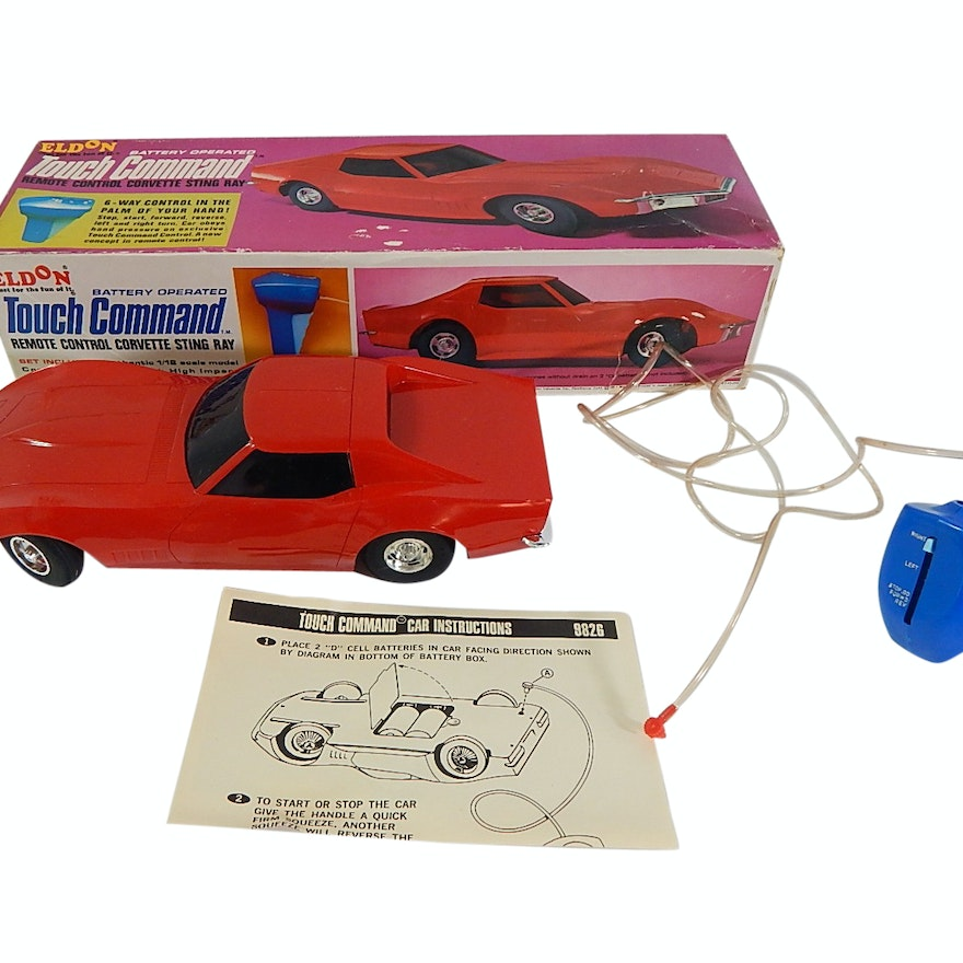 1968 Eldon Touch Command Corvette Sting Ray Toy Car