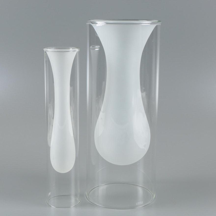 Liberia Twin Wall Glass Vases Ebth
