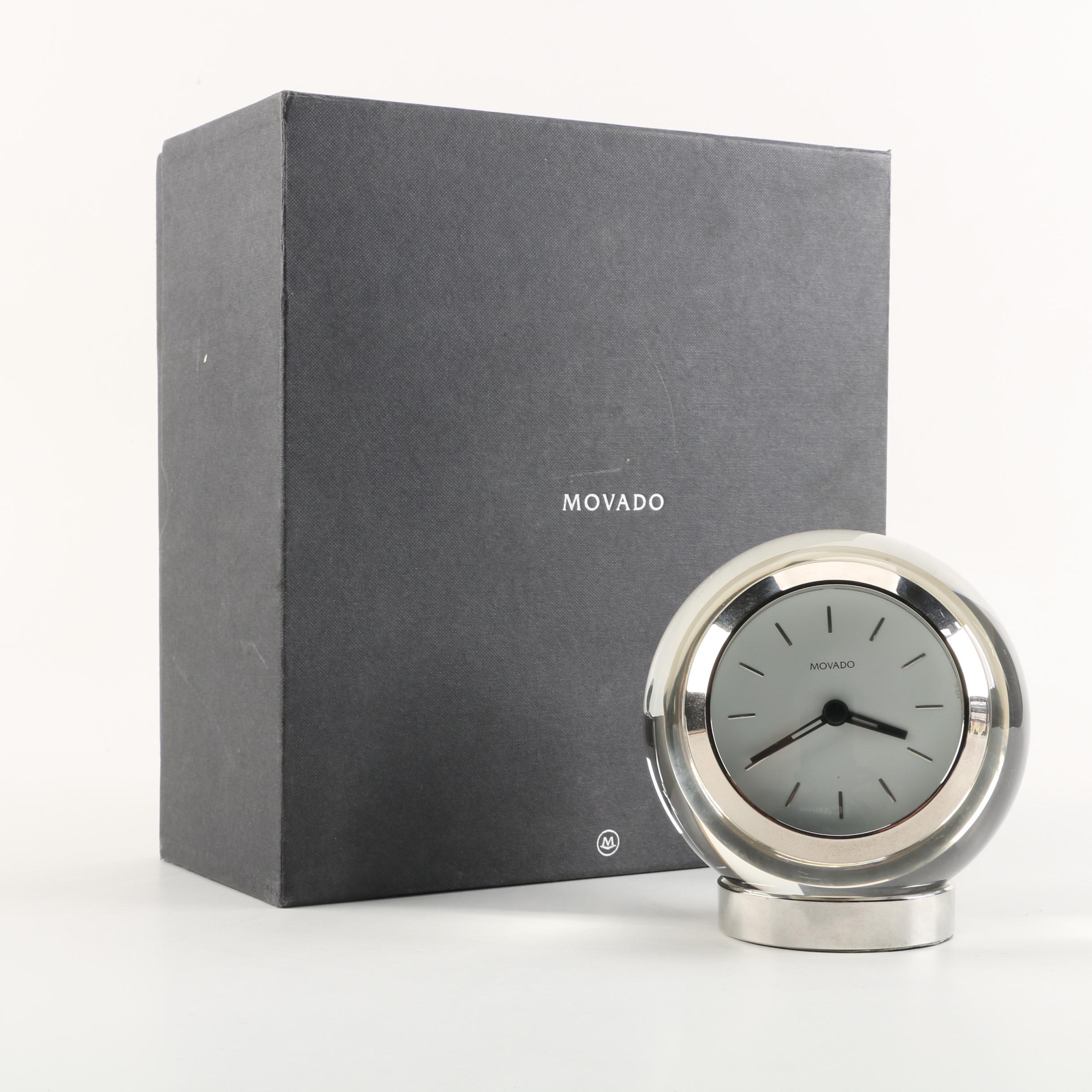 "Movado ""Crystal Sphere"" Desk Clock by Ellen Glassman"