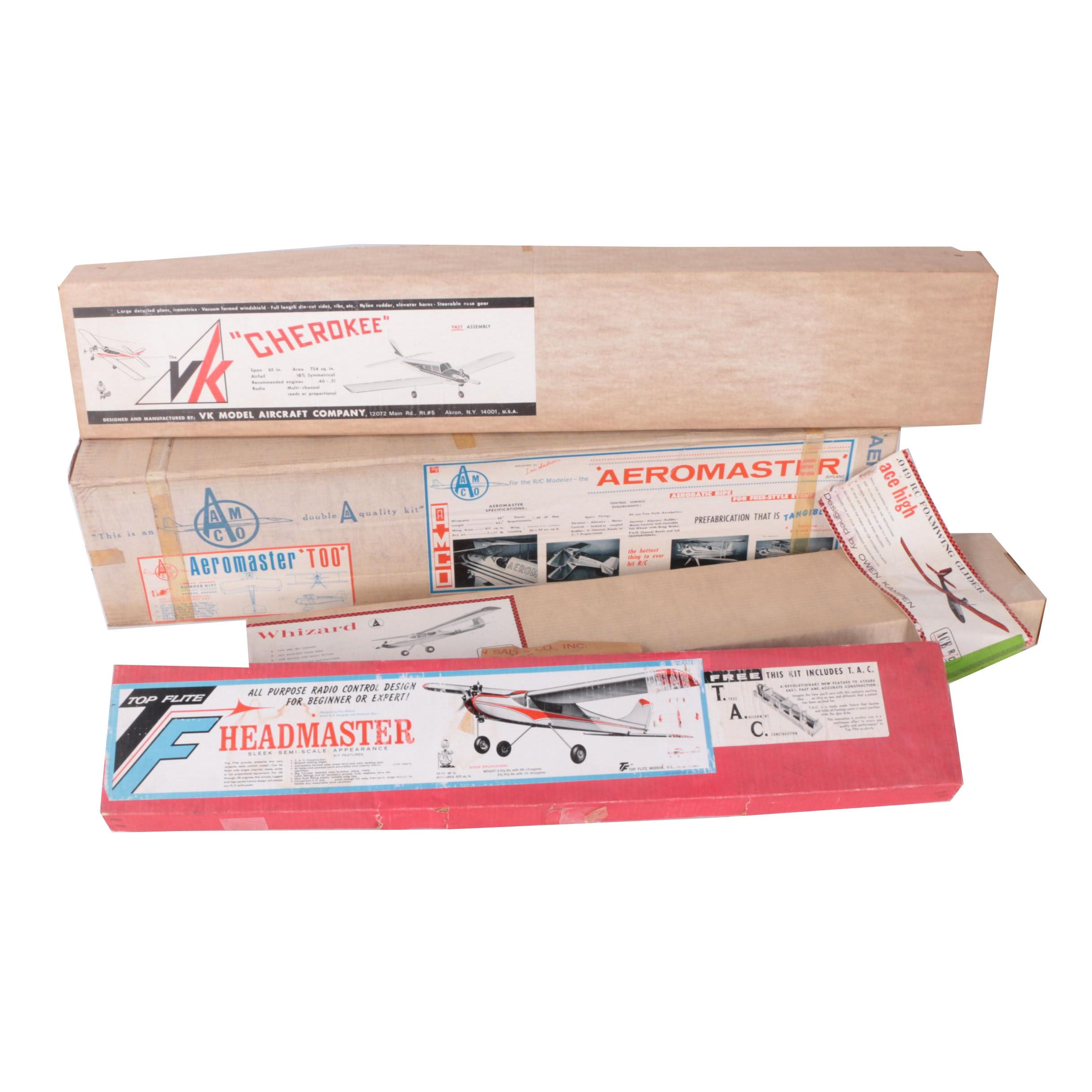Vintage VK, AMCO, Top Flite, and ACE RC Model Airplane Kits
