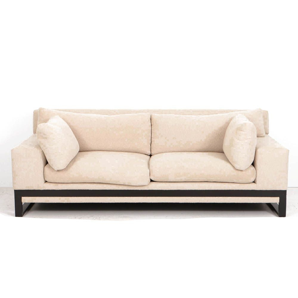 Custom Bouclé Upholstered Sofa by Sherwood Studios