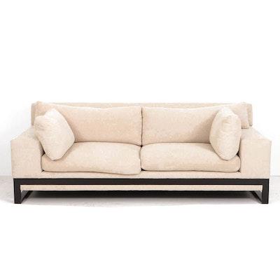 Custom Bouclé Upholstered Sofa by Sherwood Studios