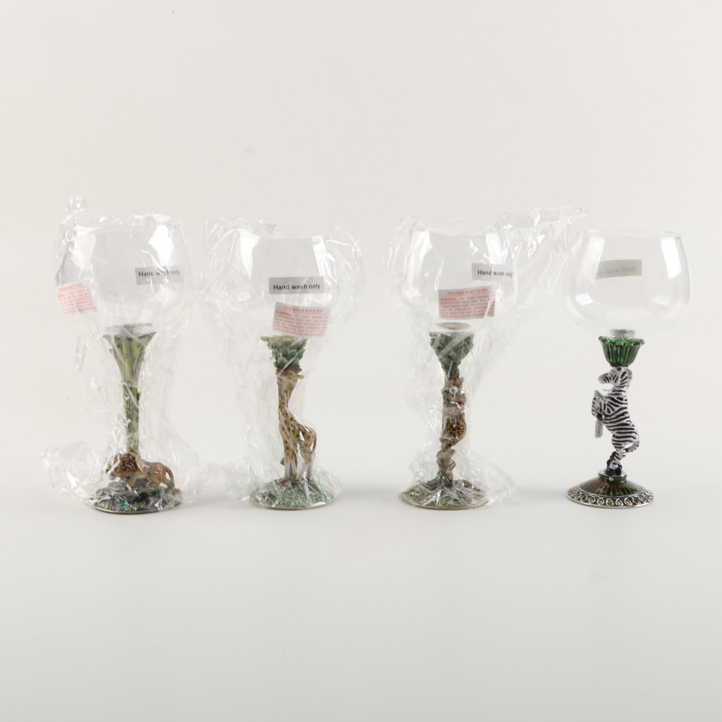 Animal Themed Wine Glasses by Jeré