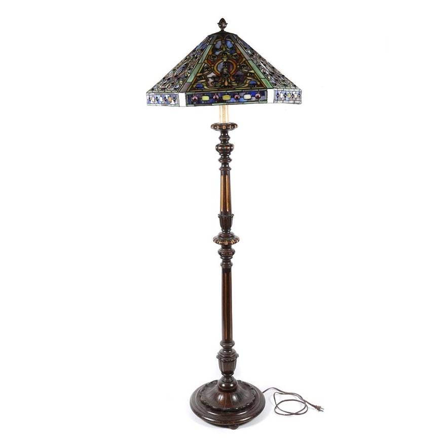 Tiffany style floor lamp ebth tiffany style floor lamp aloadofball Image collections