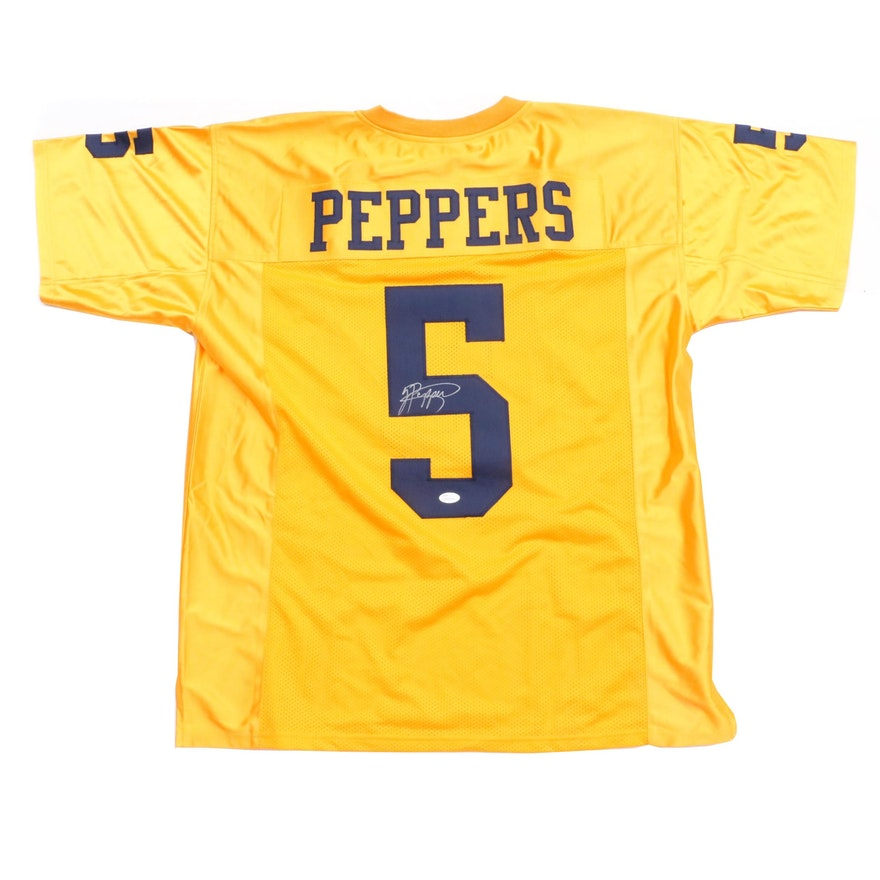 38b579efe Jabrill Peppers Signed Yellow Michigan Jersey COA : EBTH