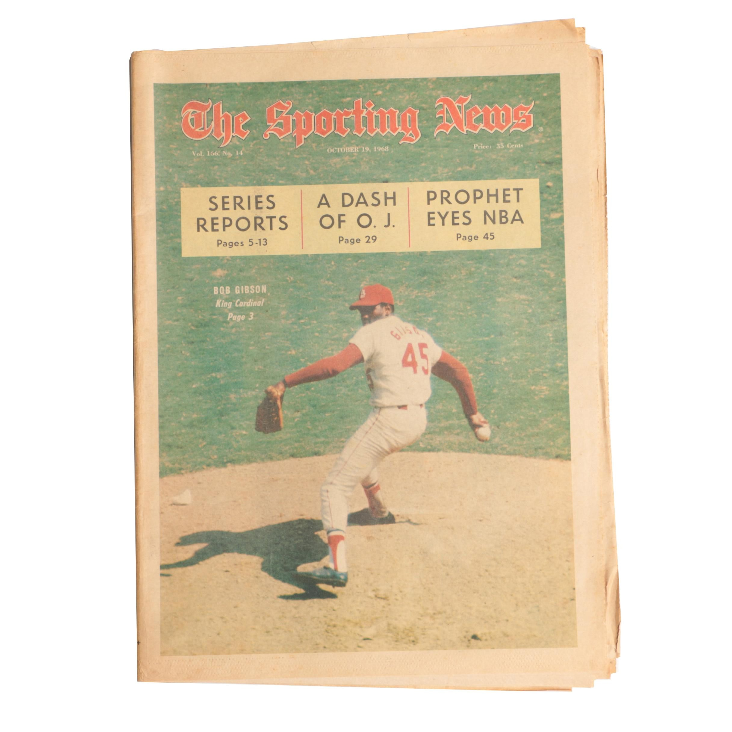 """The Sporting News"" Volume 166, No. 14, October 19, 1968"
