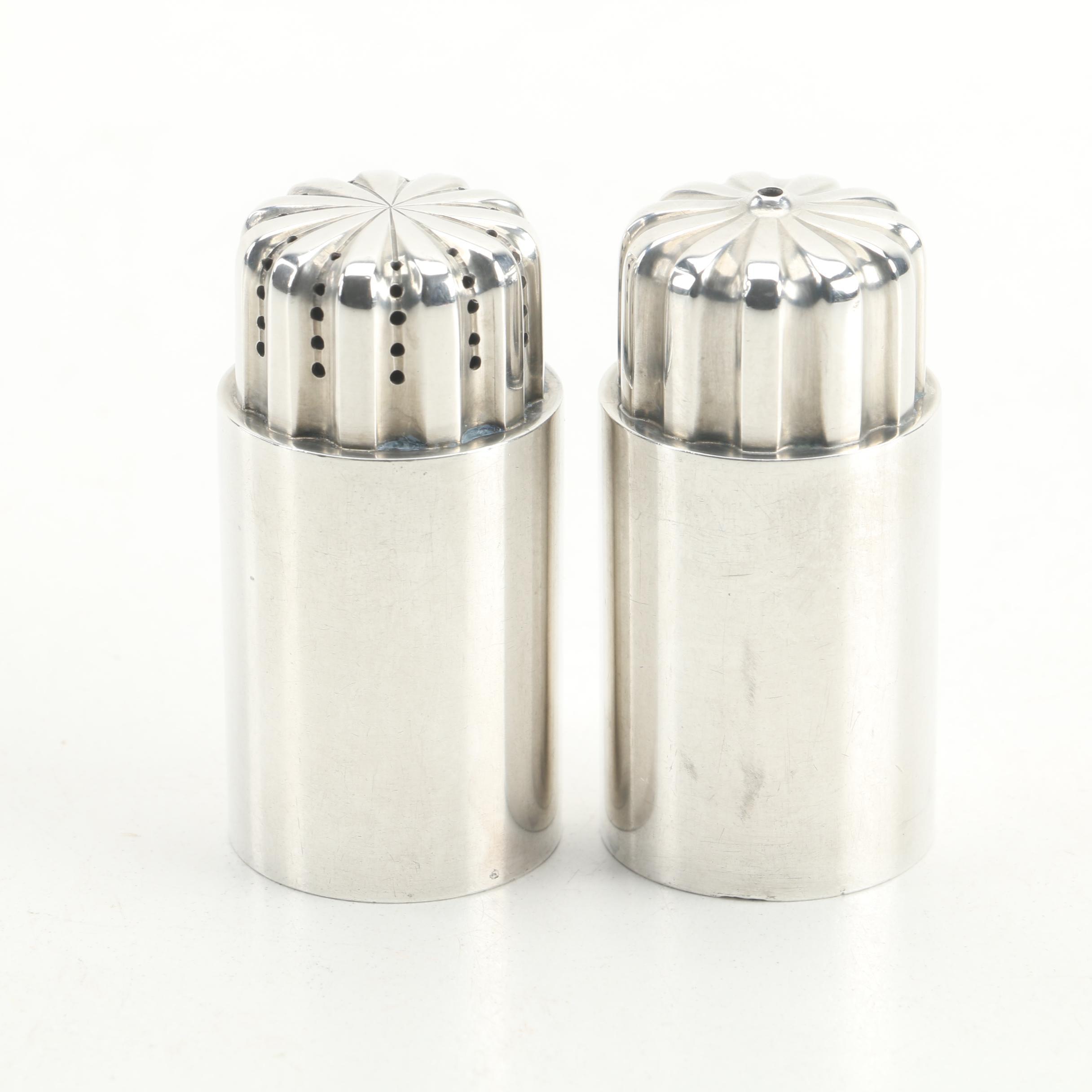 "Georg Jensen ""Bernadotte"" Danish Sterling Silver Salt and Pepper Shaker Set"