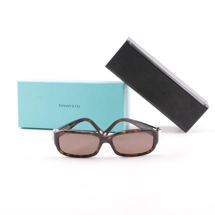 a6388250353 Tiffany   Co. TF4002 Dark Havana Polarized Sunglasses with Case and Box ...
