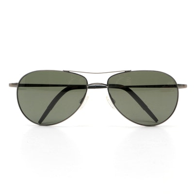 Oliver Peoples Aviator Sunglasses With Case