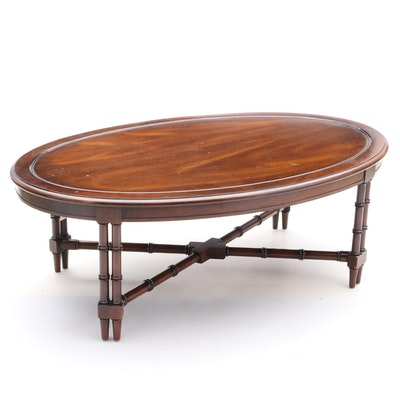 Oval Mahogany Coffee Table - Online Furniture Auctions Vintage Furniture Auction Antique