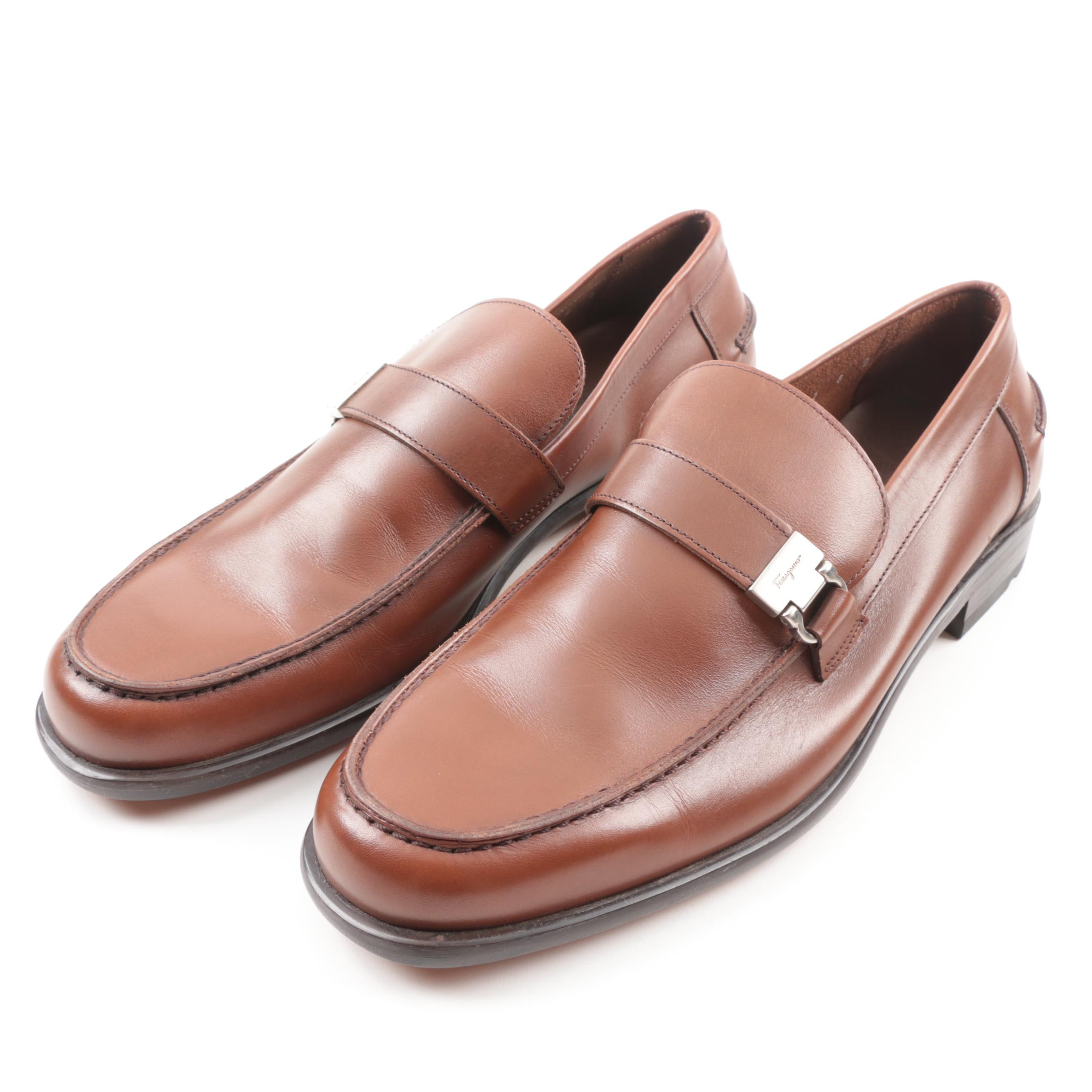 Ferragamo Studio Men's Brown Leather Loafers