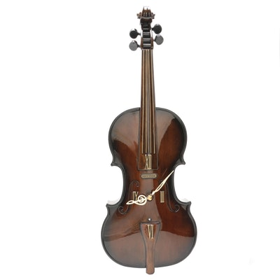 """Rhythm """"Fiddler"""" Musical Wall Clock"""
