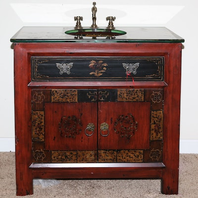 Vintage Bathroom Vanity. Current Bid: $55. Ended. Chinoiserie Sink Cabinet  by Hooker Furniture - Vintage Bathroom Vanities Used Bathroom Vanities For Sale : EBTH