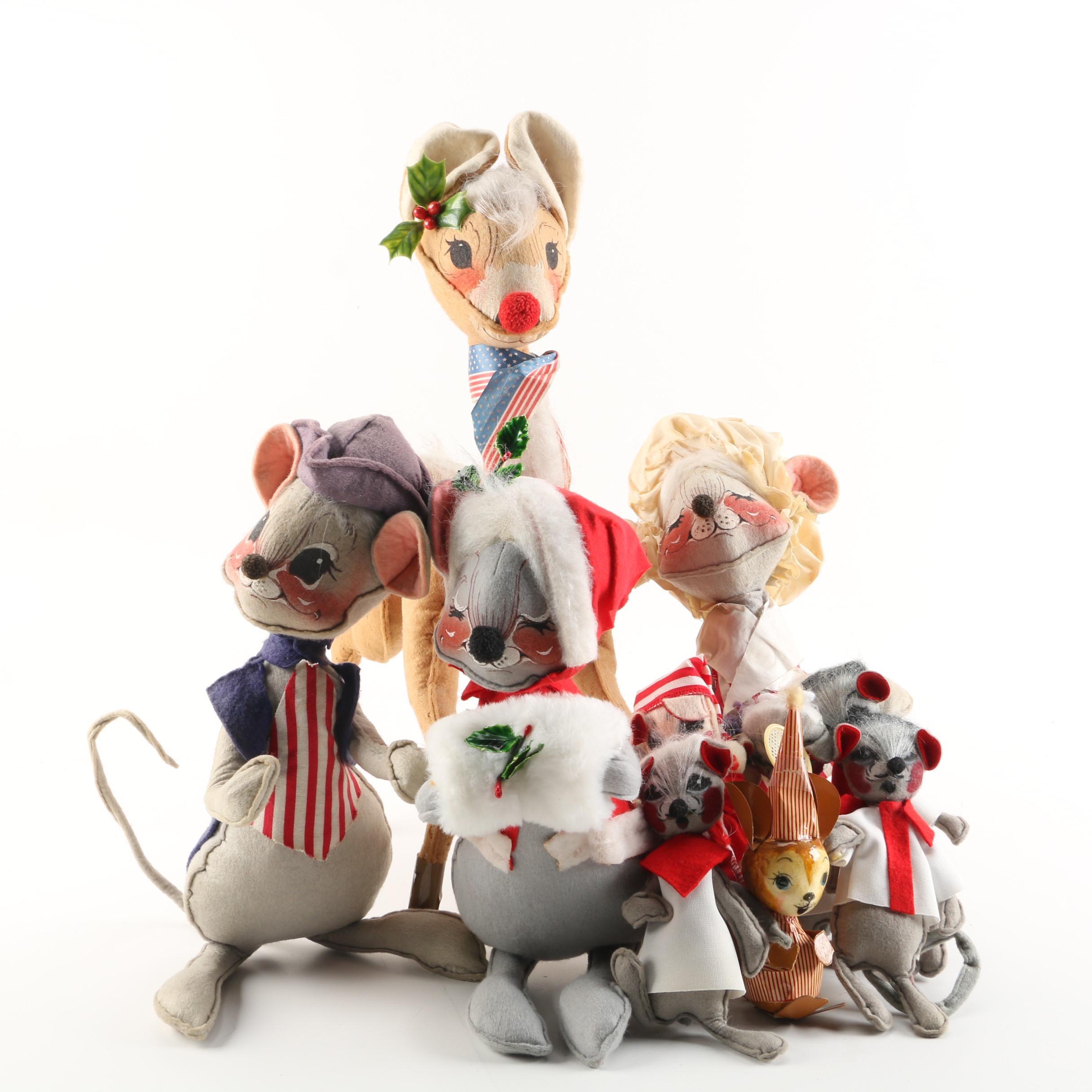 """Vintage Annalee """"Mobilitee Doll"""" Americana Figurines"""