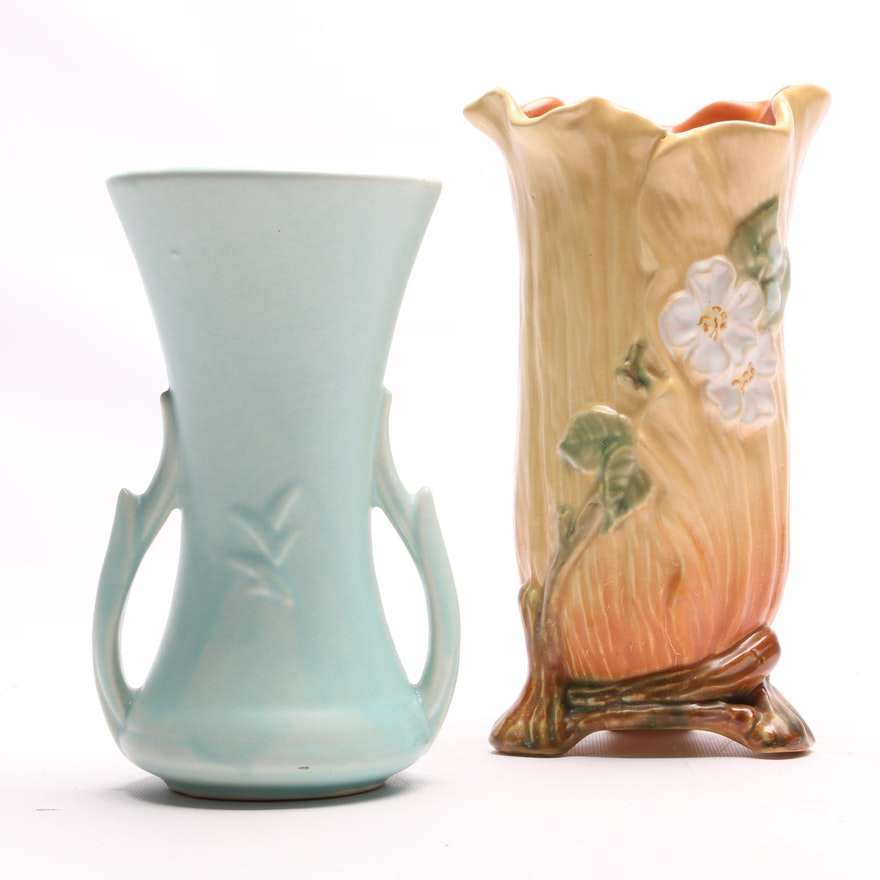 Weller And Mccoy Pottery Vases Ebth