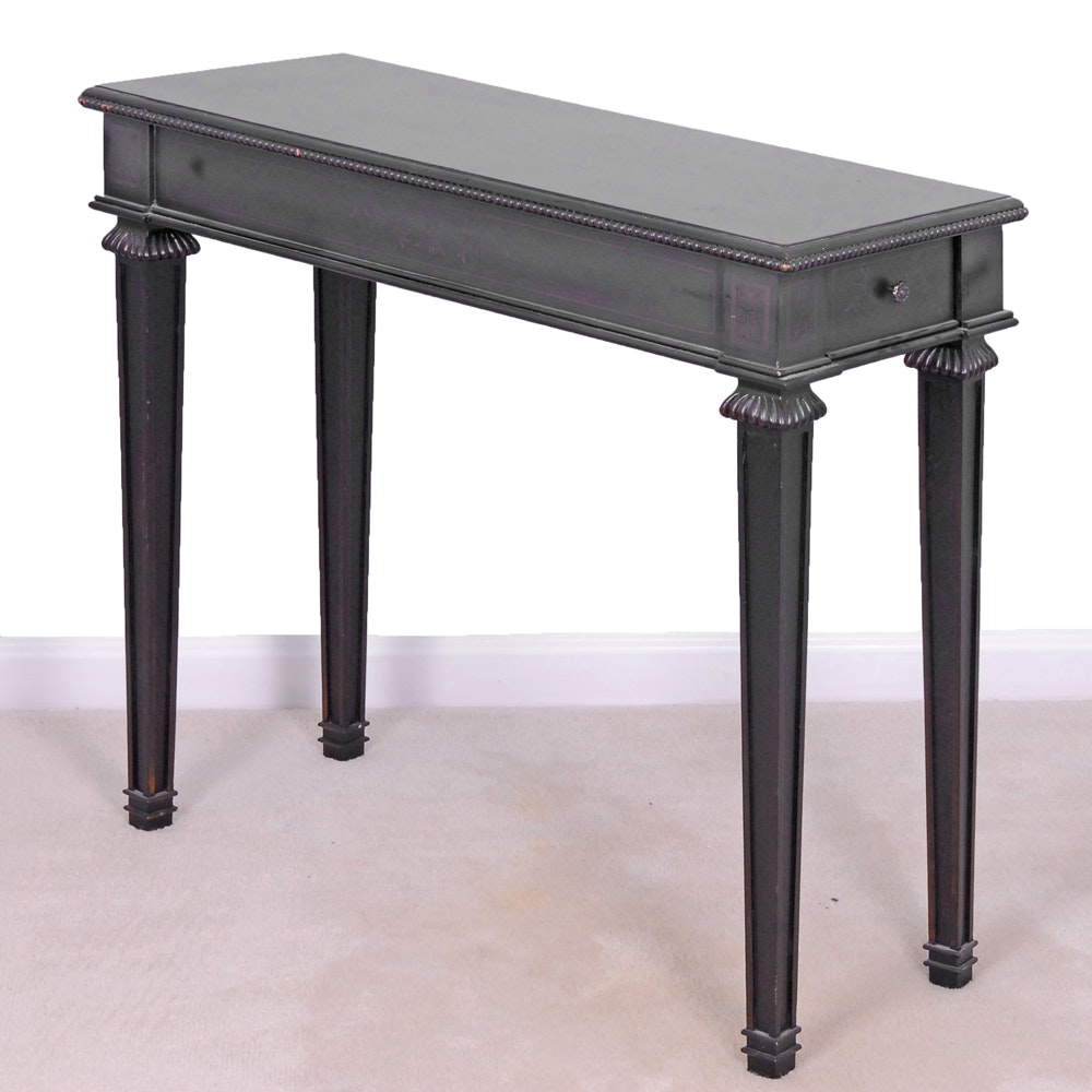 Black Painted Console Table by The Bombay Company