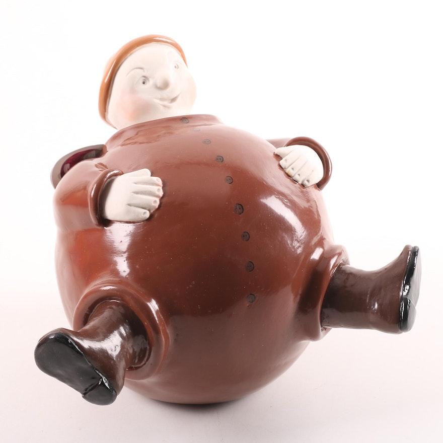 "Bowlies by Catherine Hunter ""Jeff"" Art Pottery Figurine"