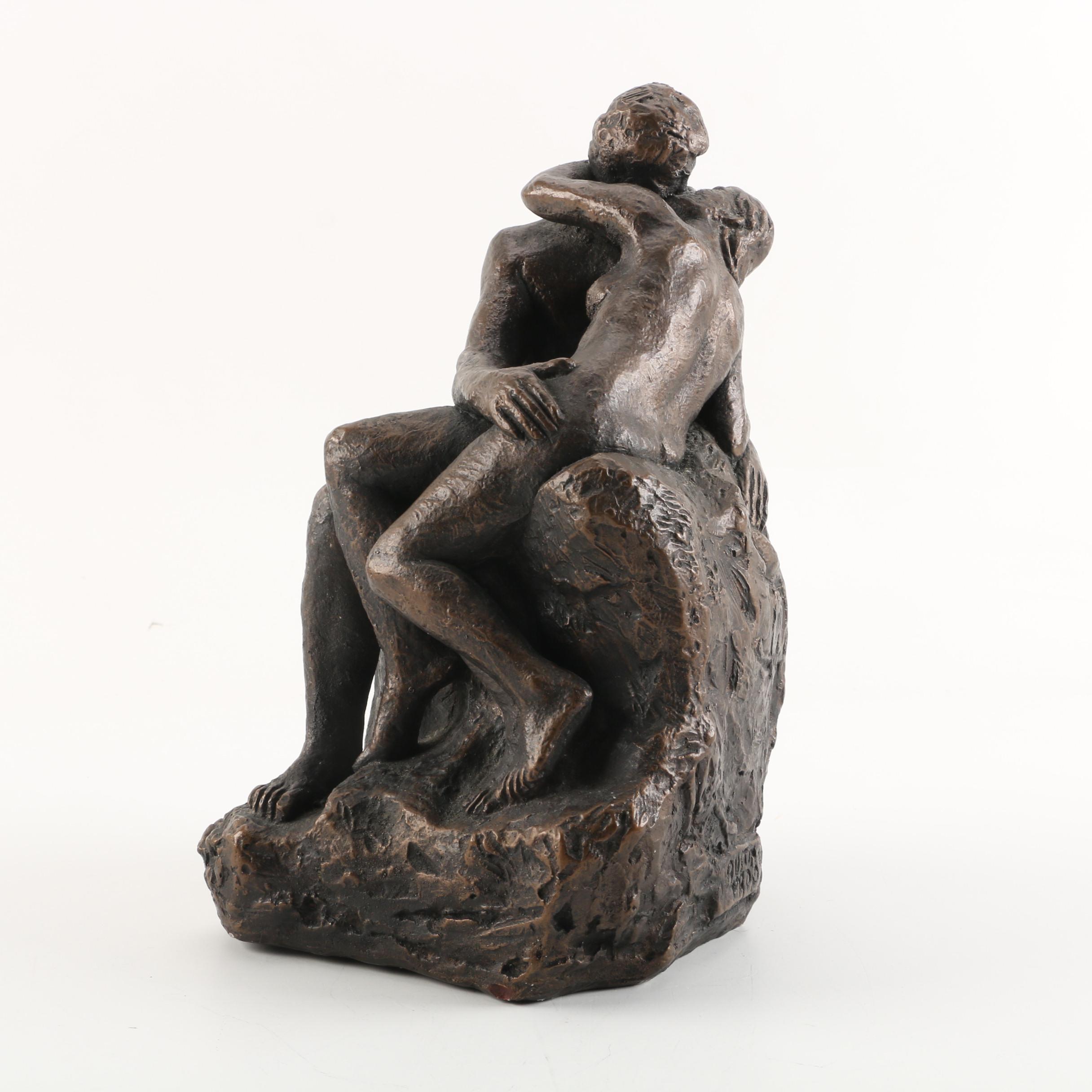 "Austin Productions Composite Sculpture After Rodin ""The Kiss"""