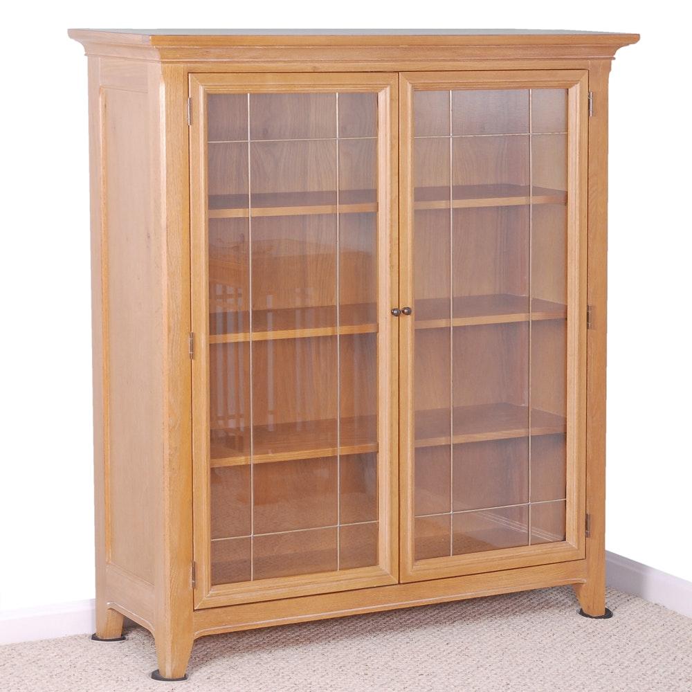 Contemporary Glass Door Bookcase