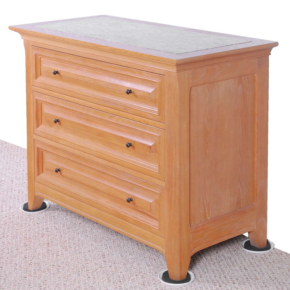 Thomasville Chest of Drawers with Stone Panel