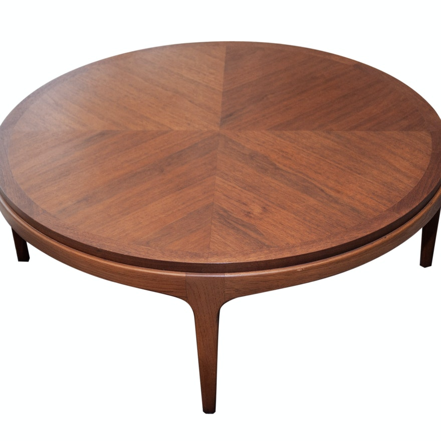 Lane Mid Century Modern Round Coffee Table Ebth