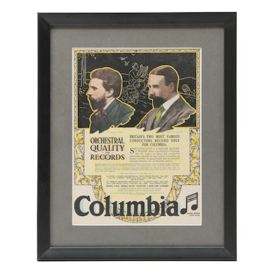 1917 Columbia Records Advent Poster