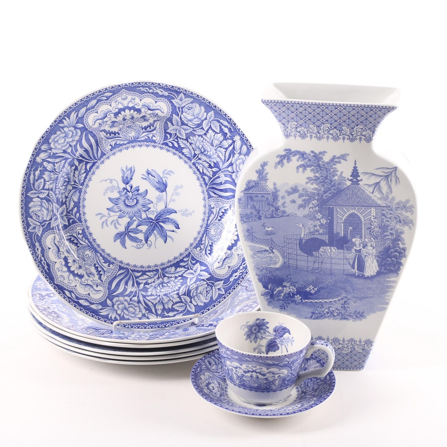 """Spode Blue Room Transfer Printed Earthenware featuring """"Zoological"""""""