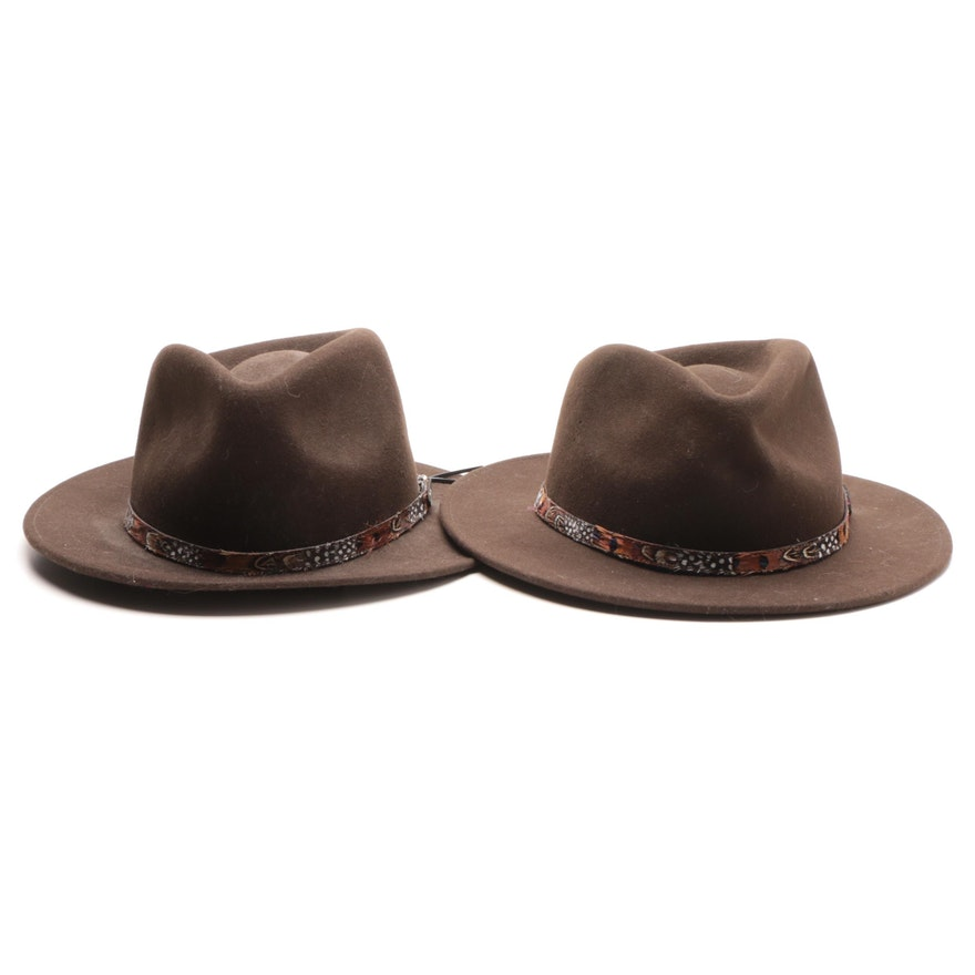 Men s Cripple Creek Felted Wool Western Hats   EBTH e617af742
