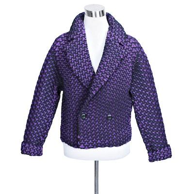 Issey Miyake Egg Crate Purple Women's Jacket