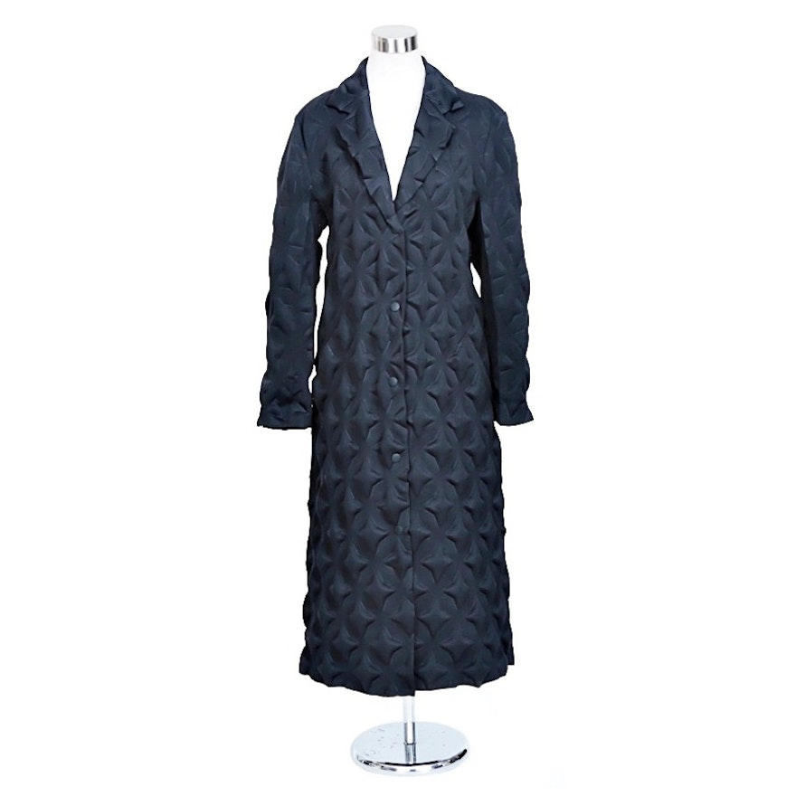 Rare Issey Miyake Vintage Star Egg Crate Women's Coat, Made in Japan