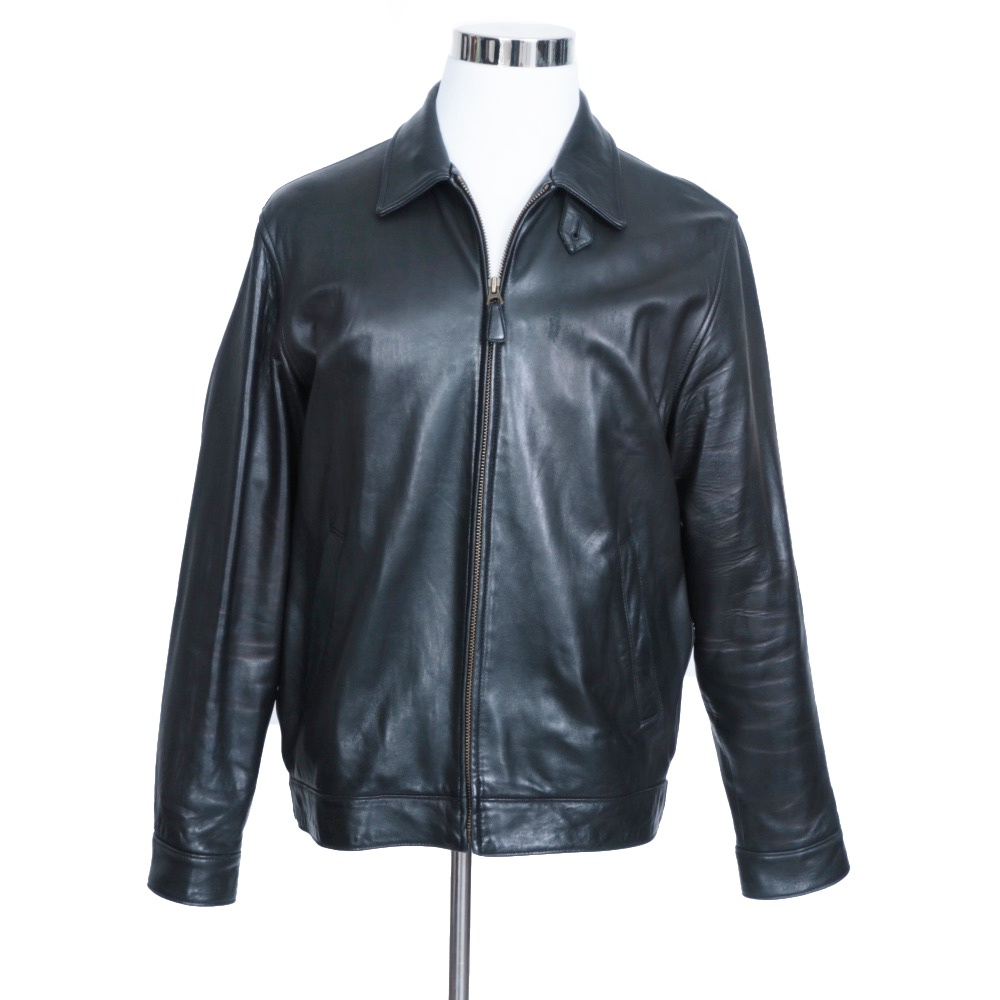 Polo Lauren Men's Leather Ralph Black Jacket EDeWHY29Ib