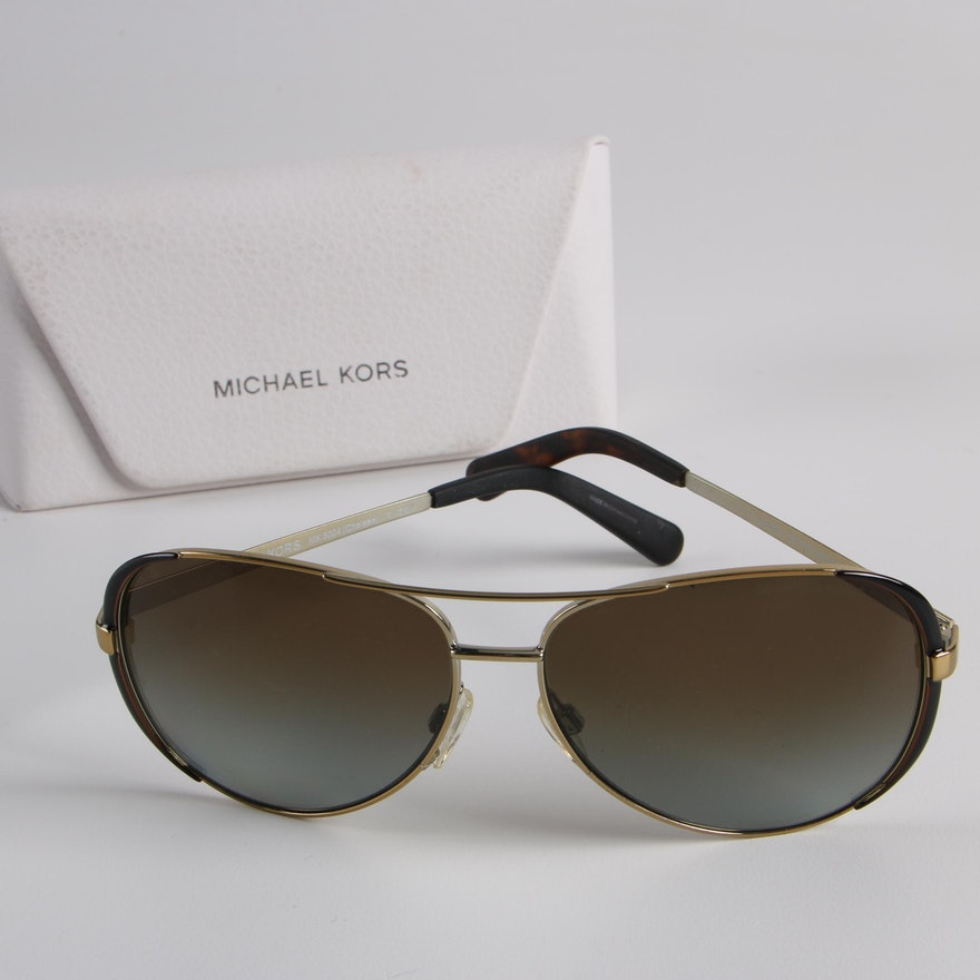 194c211f36c Michael Kors MK 5004 Chelsea Polarized Aviator Sunglasses with Case   EBTH