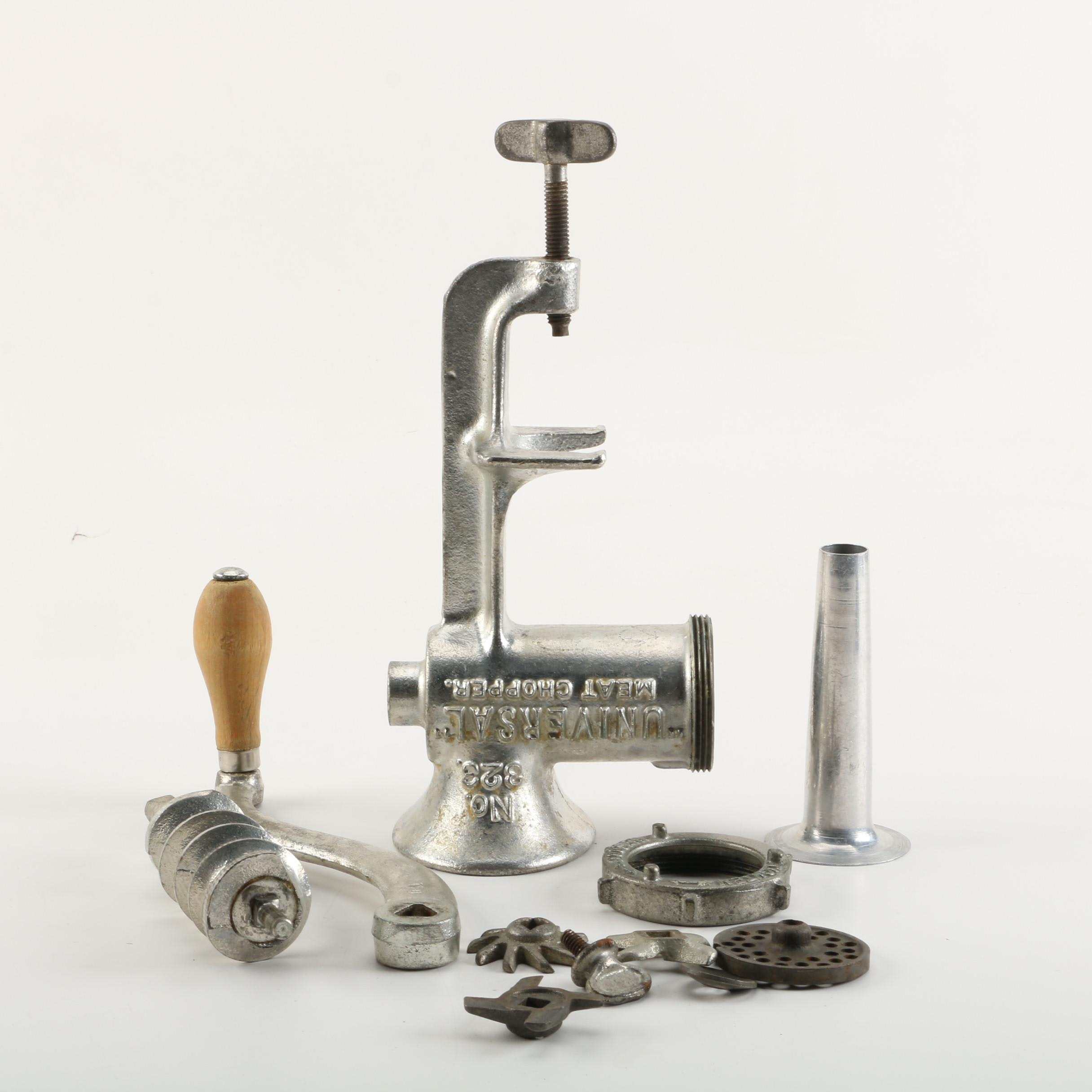 Vintage Meat Grinder and Accessories