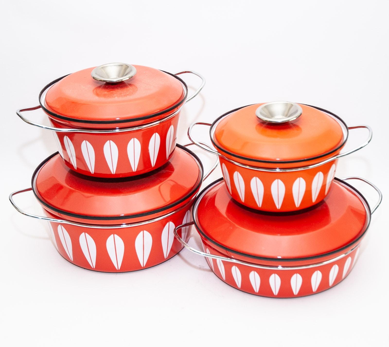 Vintage Cathrineholm of Norway Enamel Cookware