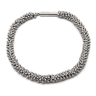 "Tiziana Redavid La Mollla Stainless Steel ""Sparkling"" Architect Necklace"