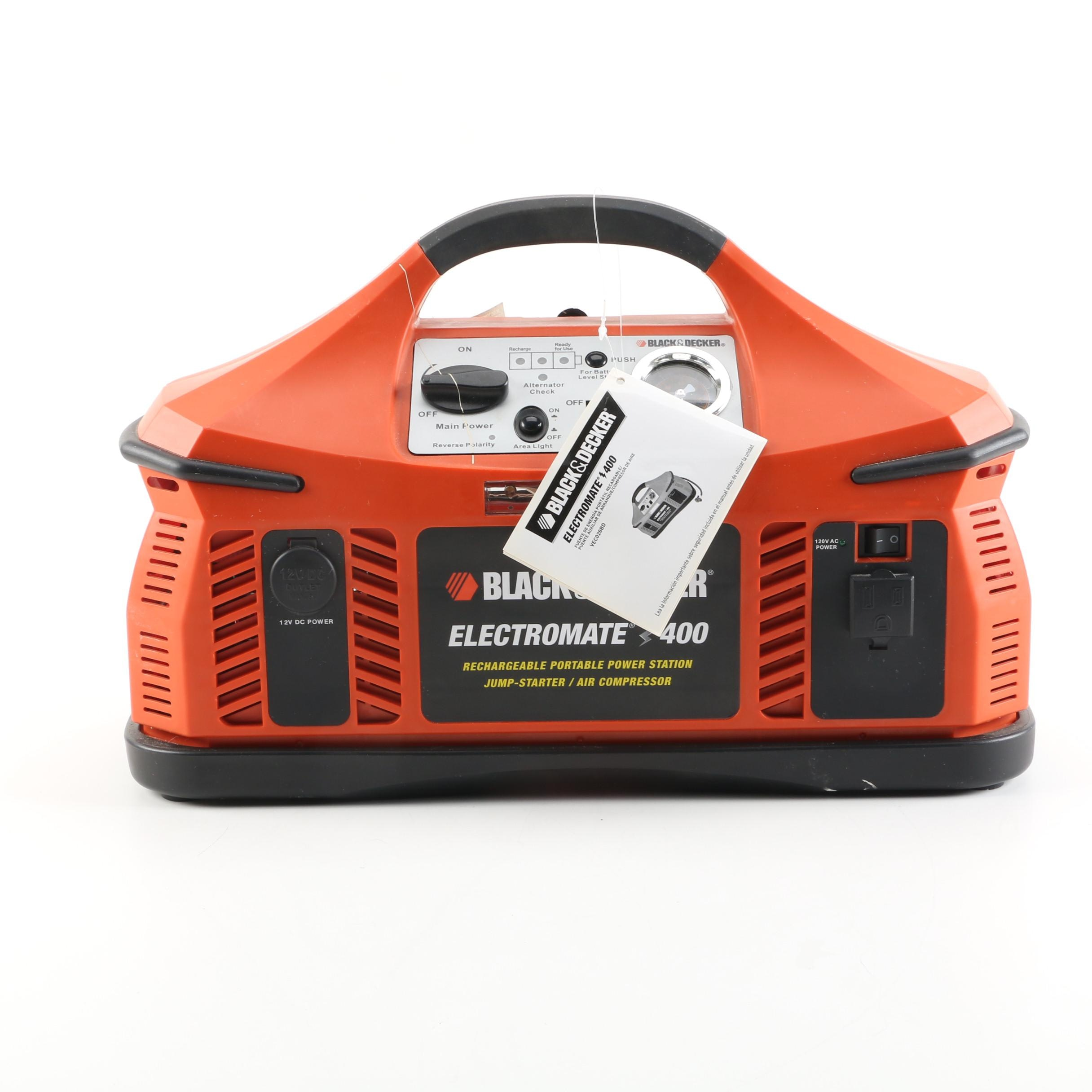 Black & Decker Electromate 400 Portable Power Station and Air Compressor