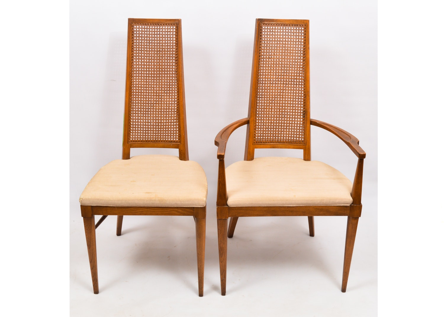 Vintage Cane Back Dining Chairs by Lane Furniture