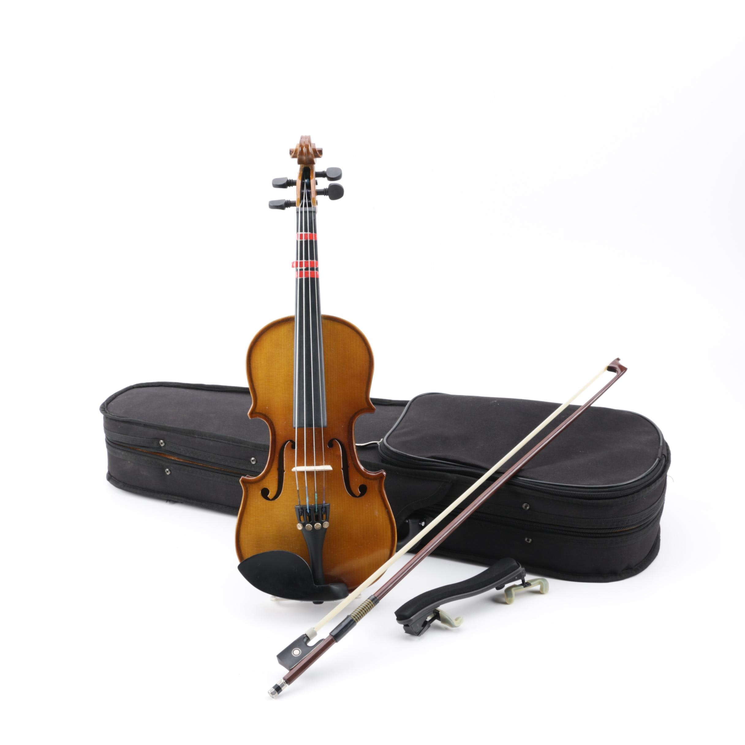 Hola! Violins 1/4 Violin in Case with Bow and FOM Shoulder Rest
